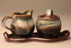 Sugar & Creamer Set  Yuba Glaze
