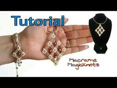 Micro Macrame Big Square Pendant Tutorial ♥ Macrame Magic Knots ♥ DIY - YouTube
