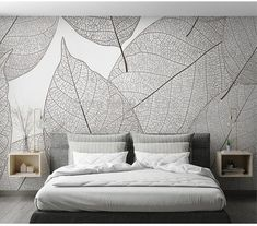 Custom Mural Wallpaper Modern Minimalist Leaf Veins Texture Wallpaper Living Room Bedroom Background Mural Wallpaper Home Decor - Etsy - Wallpaper Living Room Modern, Living Room Bedroom, Modern Bedroom, Bedroom Decor, Bedroom Wall Texture, Textures Murales, Wall Texture Design, Modern Wallpaper, Cloud Wallpaper