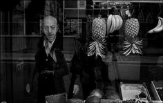 IAN BERRY // An elderly grocer gazes out from his vegetable shop window - London, War Photography, Monochrome Photography, Documentary Photography, Amazing Photography, Street Photography, Magnum Photos, Ian Berry, Vegetable Shop, Retro Pictures