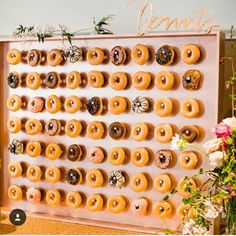 10 donut walls that your wedding brunch needs ASAP Grazing table ideas and inspiration. Setting up a grazing table How to