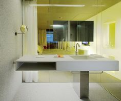 Durat Bathroom Bench. Design by Richard Gluckman, Hotel Puerta America, Madrid