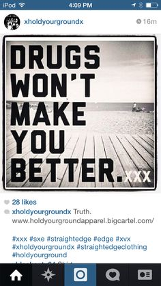 They won't. Promise. Drugs, Wellness, Life