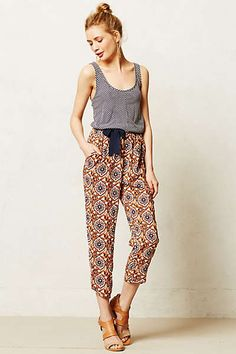 Anthropologie - Thebe Romper umm yes please!! I love rompers! Great pattern