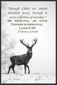 """Through Christ we inherit abundant mercy.  Enough to cover a lifetime of mistakes. """"Be merciful as your Father is merciful.""""  Luke 6:36"""