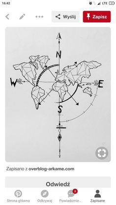 geometric world map compass arrow nautical travel tattoo design Compass And Map Tattoo, Compass Drawing, Map Compass, Geometric Compass, Compass Design, Globe Tattoos, World Map Tattoos, Elegant Tattoos, Trendy Tattoos