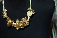 Beautiful gold and pearl statement by RoyalDesignAdornment on Etsy