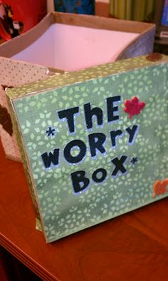 The Worry Box ~ Students can jot down worries and put them in this box.  The counselor draws out the slips and knows which students to see and about what. Could also be done in small group or as a guidance lesson anonymously. Worry can be specific (state mandated testing) or generic. Be sure to emphasize that once the Larry is shut in the box & is carried out of the room, it's gone.