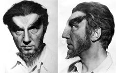 Head shot of Lugosi in a test make-up for ISLAND OF LOST SOULS (1932)