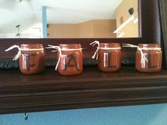 taylorgray: Fall decor using baby food jars
