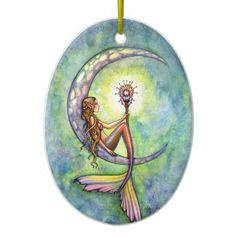 Mermaid and the Moon Fantasy Art