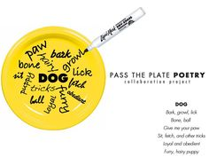 E is for Explore!: Pass The Plate Poetry