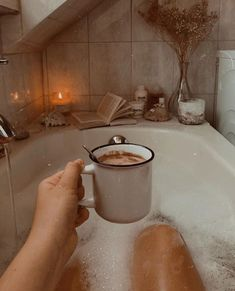 I do drink coffee and relax in a bubble bath. I do drink coffee and relax in a bubble bath. Autumn Aesthetic, Cosy Aesthetic, Brown Aesthetic, Aesthetic Rooms, Make Up Tutorial, Bubble Bath, Design Thinking, Bath Time, Yummy Drinks