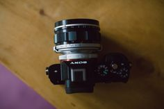 Sony A7 mirrorless full frame camera complete with Canon 50mm f/0.95 lens. What a cool looking lens!