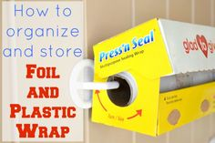 Genius! How to Store Foil and Plastic Wrap - Ask Anna