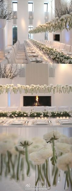 White Wedding Ideas | white dinner party