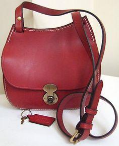 Mackenzie Of Edinburgh Handmade Red Leather Saddlebag Shoulder Bag Ebay Wyroby Ze Skóry Rajstopy