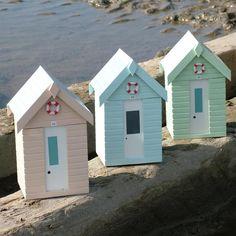 Beach hut storage boxes.