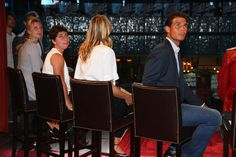 Mutua Madrid Open - Day Two - R-L Rafael Nadal of Spain,Maria Sharapova of Russia,Carla Suarez Navarro of Spain and Petra Kvitova of the Czech Republic at the player party during day two of the Mutua Madrid Open tennis tournament at the Caja Magica on May 3, 2015 in Madrid, Spain.