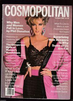 Cosmopolitan magazine, OCTOBER 1985 Model: Terry May Photographer: Francesco Scavullo
