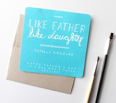 Father's Day card from daughter by Kori Clark. Make It Now with the Cricut Explore machine and Print then Cut feature in Cricut Design Space.