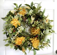 Summer Wreath  Spring Wreath  Wreath For Front by forevermore1, $89.00