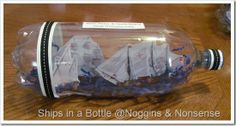 Noggins & Nonsense: Tutorial: Ships in a Bottle (Christopher Columbus Activity)