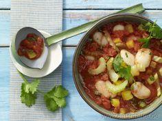 Bohnen-Paprika-Chili mit frischem Koriander - smarter - Kalorien: 228 Kcal | Zeit: 15 min.