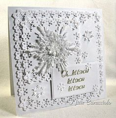 Kittiekraft  snowflake card