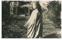 Rose O'Neill Creator of the Kewpie Doll near Ozark home Bonnie B   L.L. Cook postcard