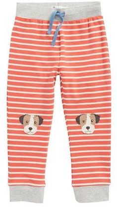 Toddler Boy's Mini Boden Fun Knee Applique Pants