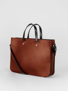 6b5ca15516 Briefcase Tote - Chestnut. Leather BackpackLeather BagsLadies ...