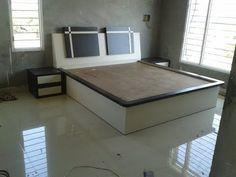61 Ideas Pooja Room Door Design Simple For 2019 Bed Frame Design, Bedroom Bed Design, Bedroom Furniture Design, Bed Linen Design, Bed Furniture, Simple Bedroom Design, Bedroom Ideas, Beautiful Bed Designs, Simple Bed Designs