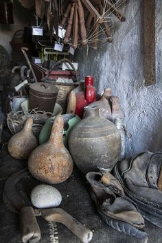"The Folk Museum in Folegandros, is a quaint museum. In fact is a representative sample of a traditional farm of the century, called ""themonia"" by the. Greeks, Greek Islands, Homeland, Abandoned, Folk, Museum, Traditional, Country, Painting"