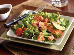 Clover Leaf's Teriyaki Salmon Salad - Clover Leaf Salmon Pie, Salmon Soup, Salmon Salad, Tuna Recipes, Asian Recipes, Tuna Noodle Salads, Creamy Salmon Pasta, Teriyaki Salmon, Salads