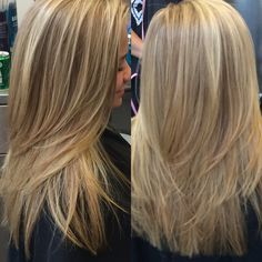 Sun kissed blonde hair with layers! Love this cut. Studio Gavin in Cool Springs, TN is amazing! Ask for Missy Garcia; she's the best!