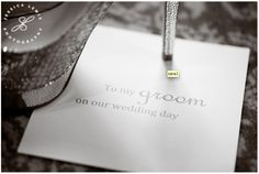 letter to groom/bride on wedding day