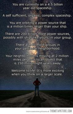 Space, and perspective...