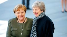 Image copyright Reuters Image caption German Chancellor Angela Merkel greets Theresa May in Berlin Theresa May is to hold last-minute Brexit talks with the leaders of Germany and France later, four… Michael Roth, Arlene Foster, Uk Brexit, Mrs May, London Stock Exchange, Mr Fox, I Have Spoken, French President, Emmanuel Macron