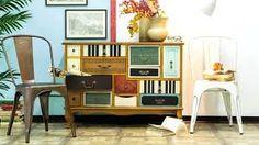 Bildergebnis für apothekerkommode Industrial Loft, Vintage Industrial, Decorating Tips, Office Desk, Design Trends, Corner Desk, Buffet, Design Inspiration, Cabinet