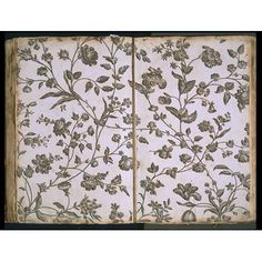 Textile design - Bromley Hall Pattern Book c1760-1800 VandA E.458:175-1955