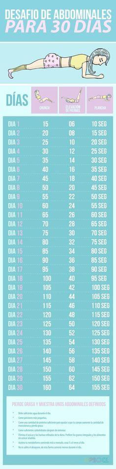 Empieza un reto de 30 días y ve aumentando la dificultad poco a poco. | 21 Trucos para empezar a hacer ejercicio y no morir en el intento