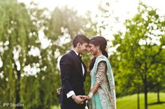 Sweet indian bride and groom http://www.maharaniweddings.com/gallery/photo/121460