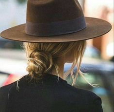 Shop the Look from wildflowerlikegrace on ShopStyleLow bun + Fedora = Perfection Hair Day, Your Hair, Look Fashion, Autumn Fashion, Catwalk Fashion, Fashion Hats, Fashion Trends, 90s Fashion, Latest Fashion