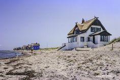 Ferienhäuser an der Ostsee am Strand von Heiligenhafen/Graswarder // Foto: R. Kerpa
