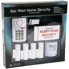 NEW Six Piece Alert Home Security System Wireless Keypad Alarm Motion Detector - http://home-garden.goshoppins.com/home-improvement/new-six-piece-alert-home-security-system-wireless-keypad-alarm-motion-detector/