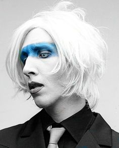 MM with blue make up