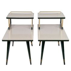 Mid-Century End Table Pair