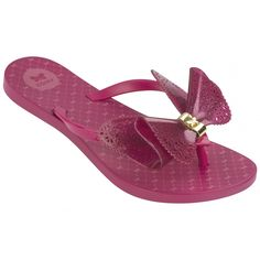 Fresh Butterfly Pink Glitter Style with a romantic concept inspired by fairy tales! This flip flop is stunning - with delicate butterfly detailing on the insole, and a Zaxy metallic gold butterfly clasp to complete the elegant look!