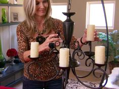 Upgrade an Outdated Chandelier : Decorating : Home & Garden Television